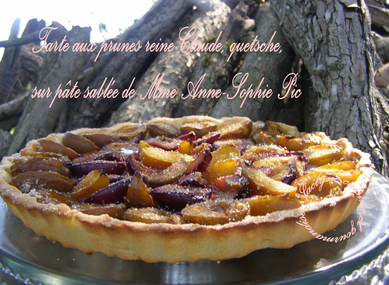 Tarte aux prunes : reine Claude, quetsche, sur pâte sablée de Mme Anne-Sophie Pic *Vous allez vous régaler*