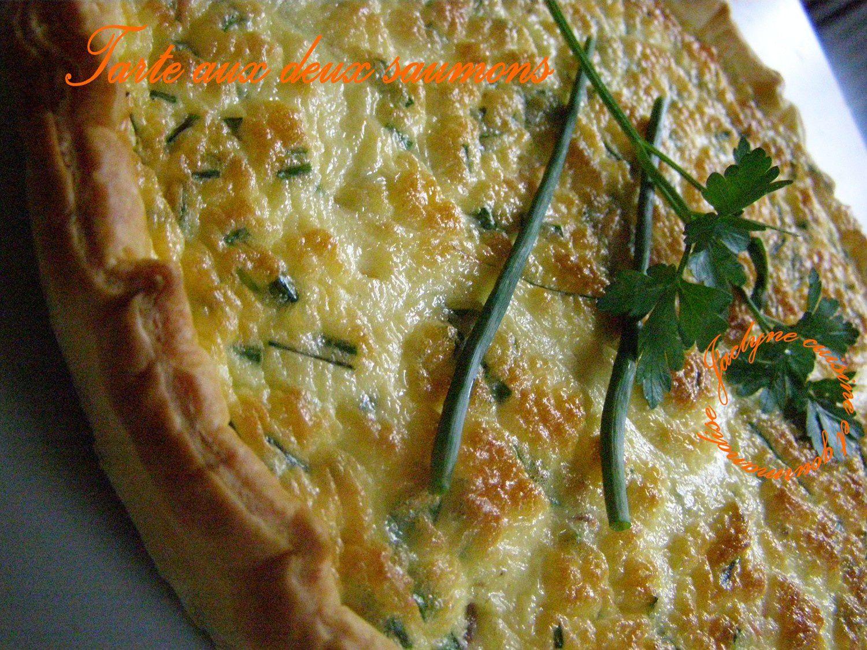 Tarte aux deux saumons de Sophie Dudemaine Jaclyne www.cuisineetgourmandise.fr