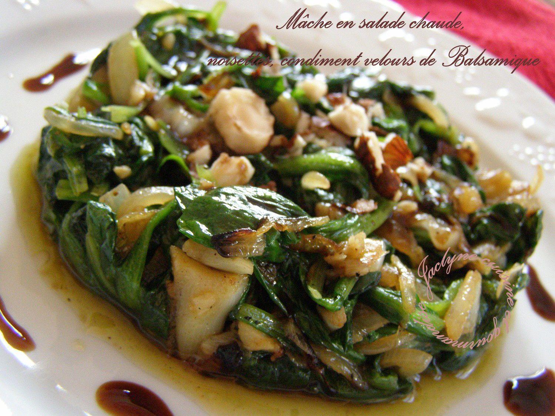 m 226 che en salade chaude noisettes condiment velours de balsamique de chez maille dans la