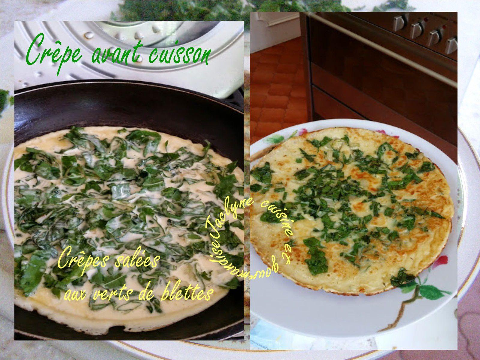 Crêpes salées au verts de blettes *Dans la rubrique Vives les restes* Jaclyne www.cuisineetgourmandise.fr