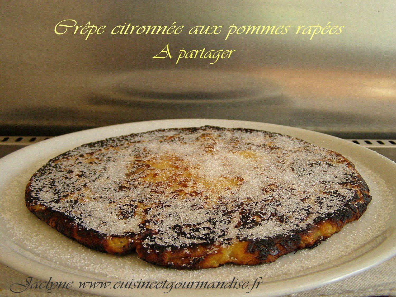 Crêpe citronnée à partager, pommes râpées Jaclyne www.cuisineetgourmandise.fr