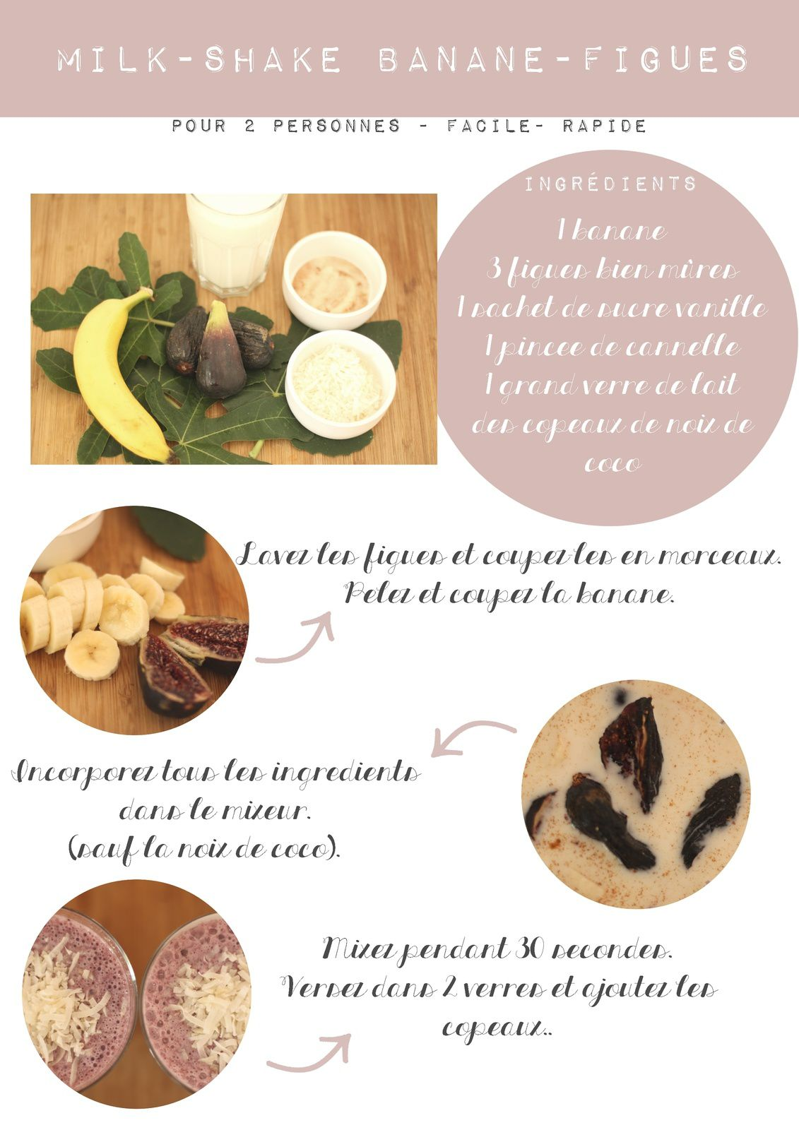 Les estivales : milk-shake banane-figue