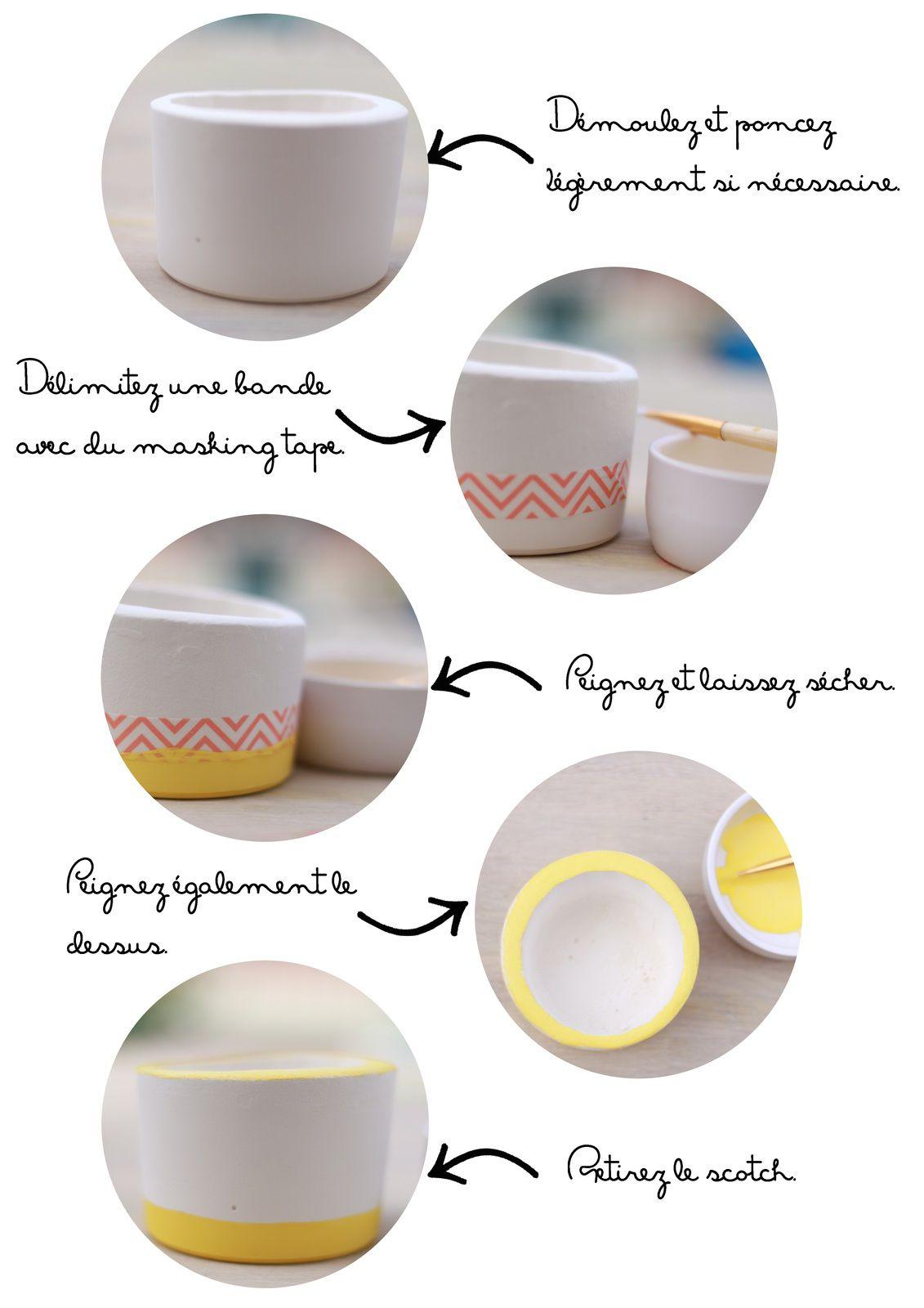 Les estivales: le cache-pot en plâtre {DIY}
