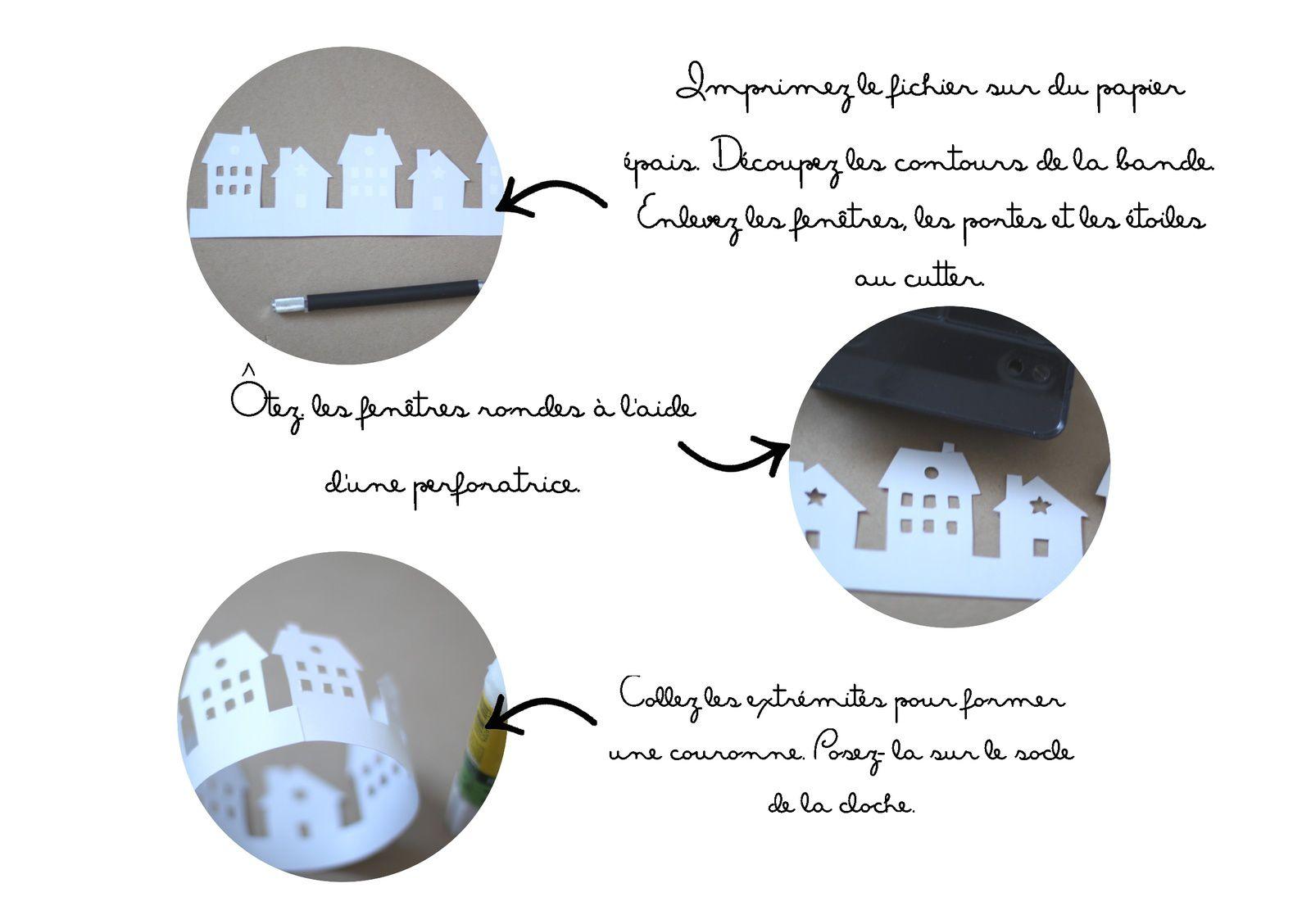 Maisons sous cloche {Printable}