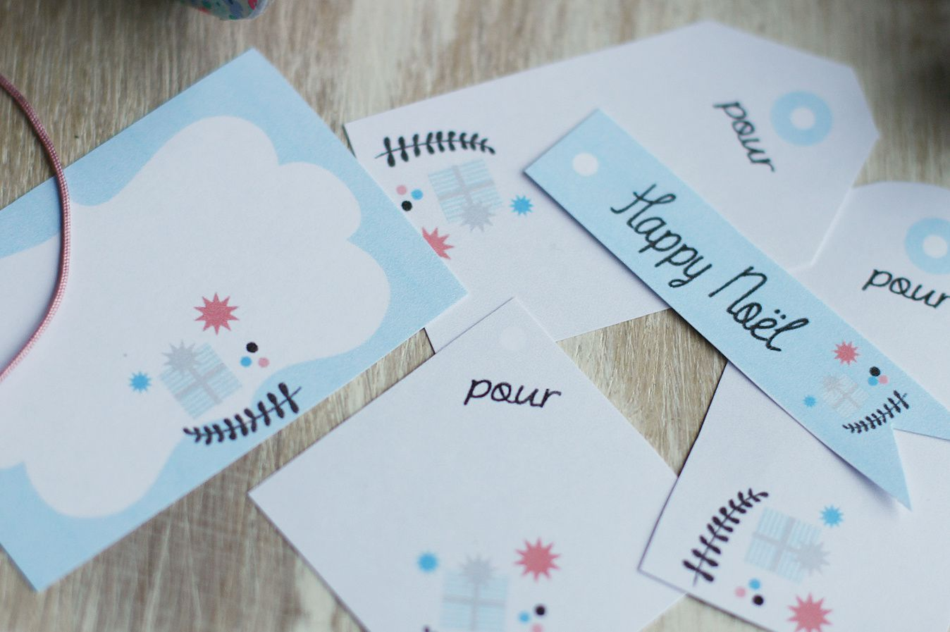 Etiquettes Happy Noël 2 {Printable}