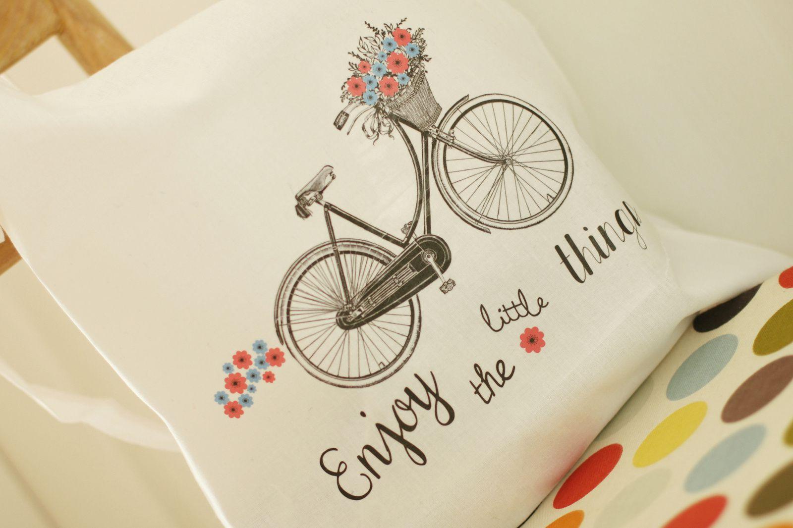 "Tote bag "" à bicyclette"" {Printable}"