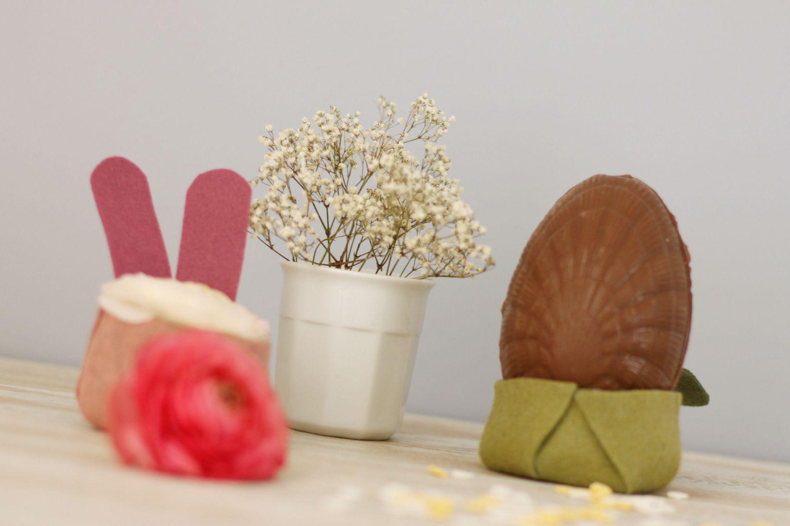 Nids douillets pour oeufs chocolatés {DIY}