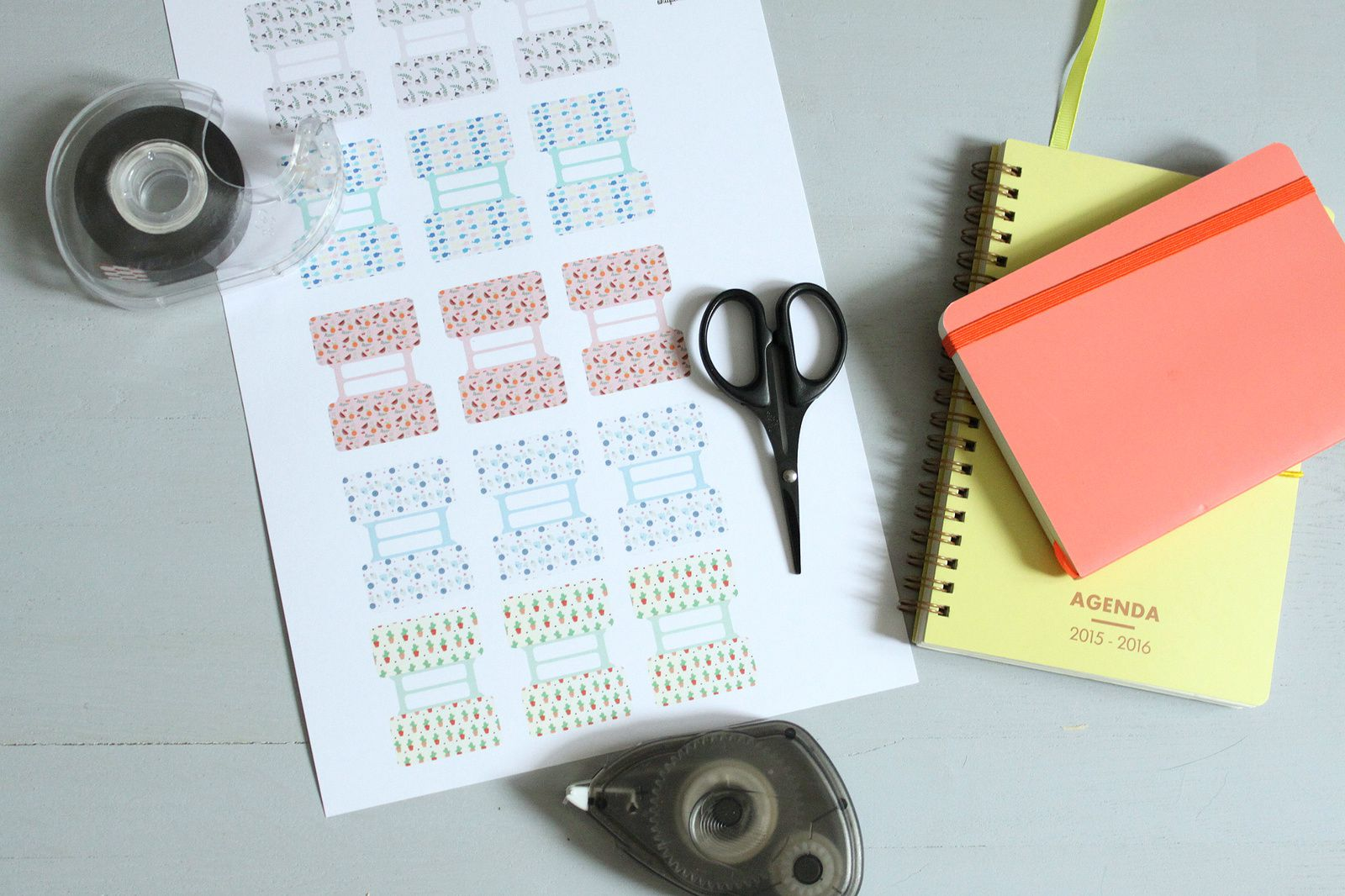 Onglets pour cahiers {printable}