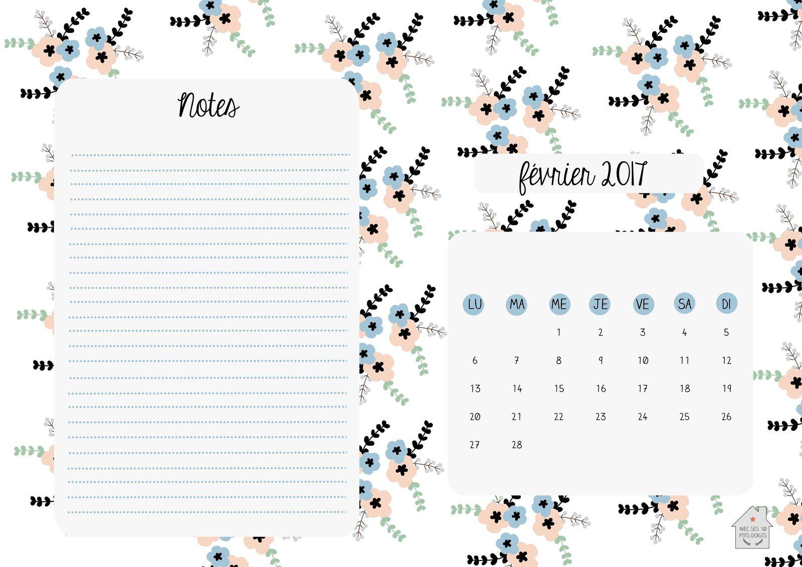 Fevrier Calendrier.Calendrier De Fevrier 2017 Avec Ses 10 Ptits Doigts Blog Diy