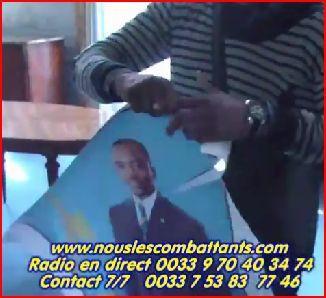Effigies de Kabila déchirées à l'ambassade de la RD Congo à Paris