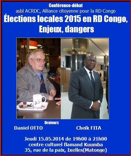 Conférence. Élections locales 2015 en RD Congo. Enjeux, dangers