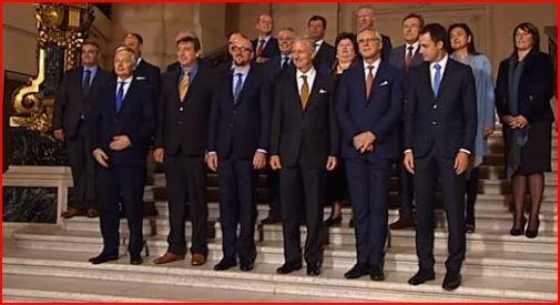 Prestation de serment du gouvernement  Charles Michel