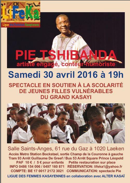 Spectacle de Pie Tshibanda au profit des actions de l'asbl LIFEKA