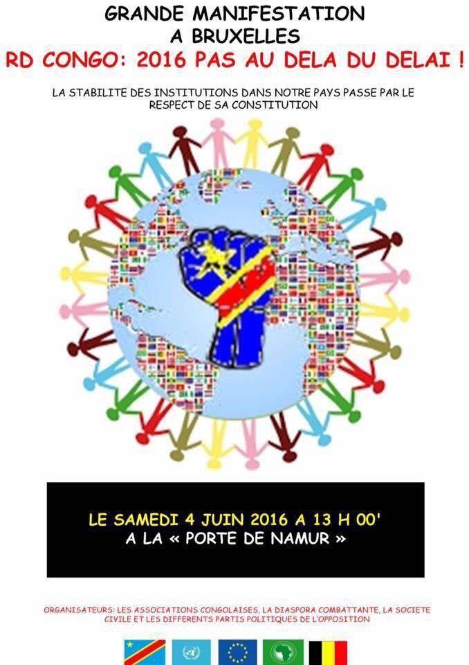 Marche à Bruxelles pour rappeler la fin de mandat de Kabila et dénoncer les massacres de Beni
