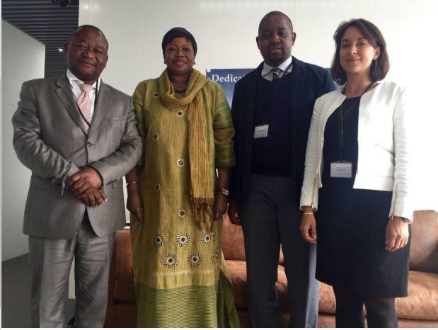 Floribert Anzuluni et Paul Nsapu du Front Citoyen 2016 chez la Procureure de la CPI
