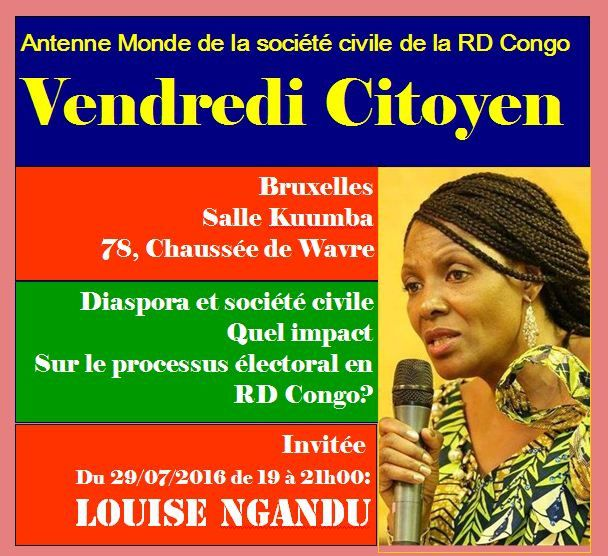 Communiqué. Invitation à «Vendredi citoyen» avec Louise Ngandu