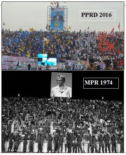 Mobilisation. MPR-Parti état et PPRD, même modus operandi