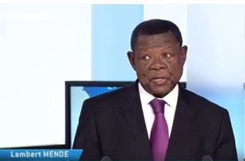 Lambert Mende. Photo capture écran TV5