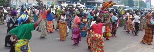 Fin de règne , les Congolaises manifestent à Bruxelles le 05.11.2016 pour le départ de J. Kabila