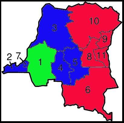 Souvenir. Résultats 1er tour Présidentielle RD Congo 2006