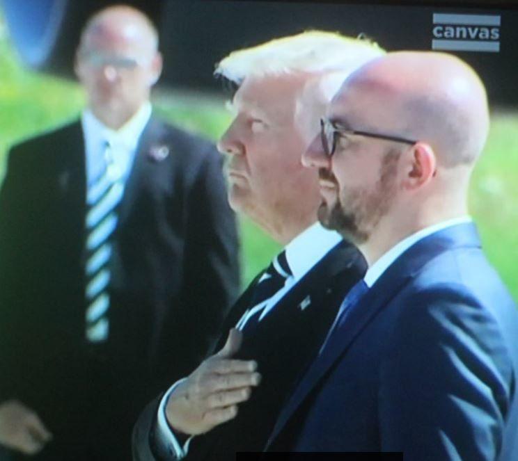 Arrivée de Donald Trump à Bruxelles