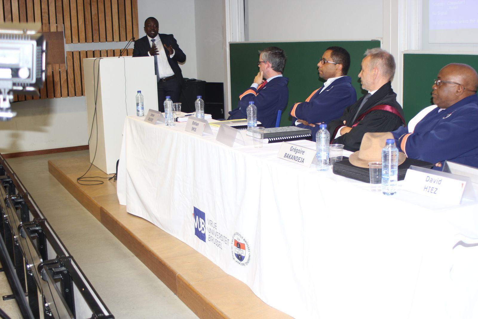 Bruxelles. Soutenance de thèse en droit de Christian Bahati à la VUB