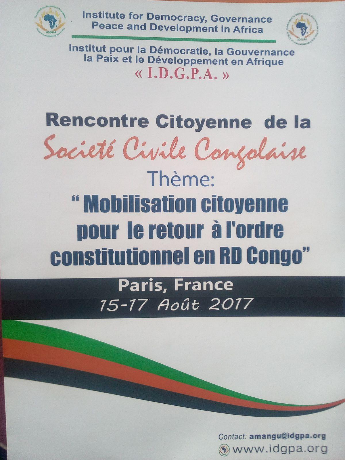 Conférence de presse à Paris : Mobilisation citoyenne pour le retour à l'ordre constitutionnel en RD Congo