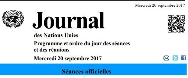 72è session de l'Assemblée Générale de l'ONU, orateurs du 20 et du 21.09.2017