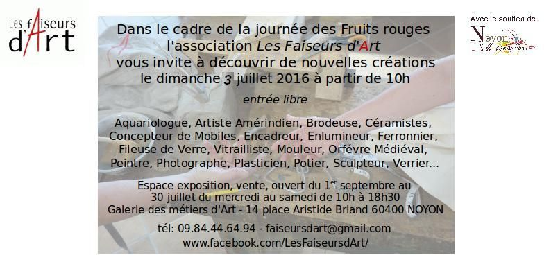 A dimanche, galerie des métiers d'art 14 place A Briand, 60400 Noyon