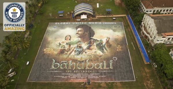 &quot&#x3B;BAAHUBALI&quot&#x3B; - GUINNESS WORLD RECORD LARGEST POSTER !