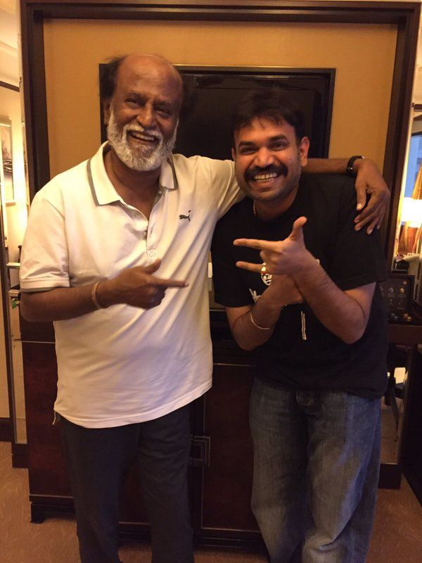 PREMGI MEETS SUPERSTAR RAJNIKANTH