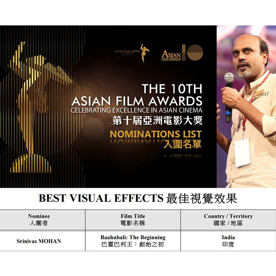 SRINIVAS MOHAN - Nominé pour le ASIAN AWARDS