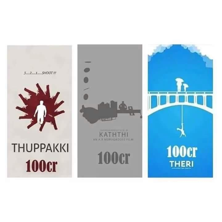 THUPPAKI,KATHTHI &amp&#x3B; THERI 100 CRORE CLUB !