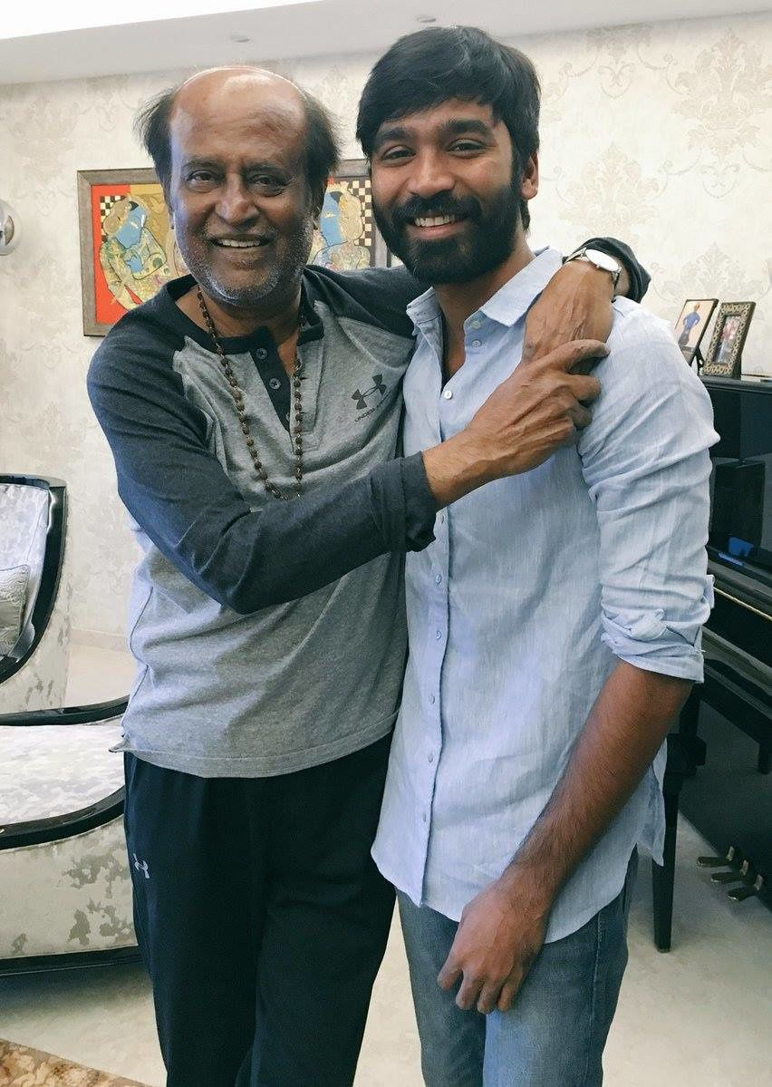 SUPERSTAR BLESSED DHANUSH ON HIS BIRTHDAY !