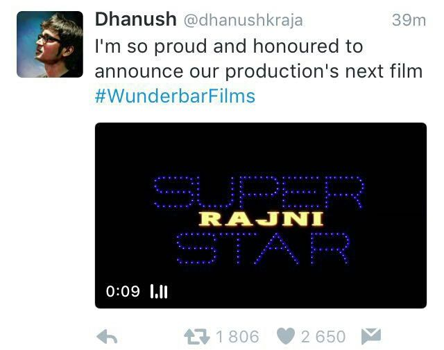 SUPERSTAR RAJNIKANTH &amp&#x3B; RANJITH COMBO AGAIN !!!
