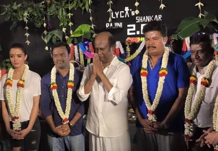 RAJINI 2.0 SHOOTING SPOT PHOTOS