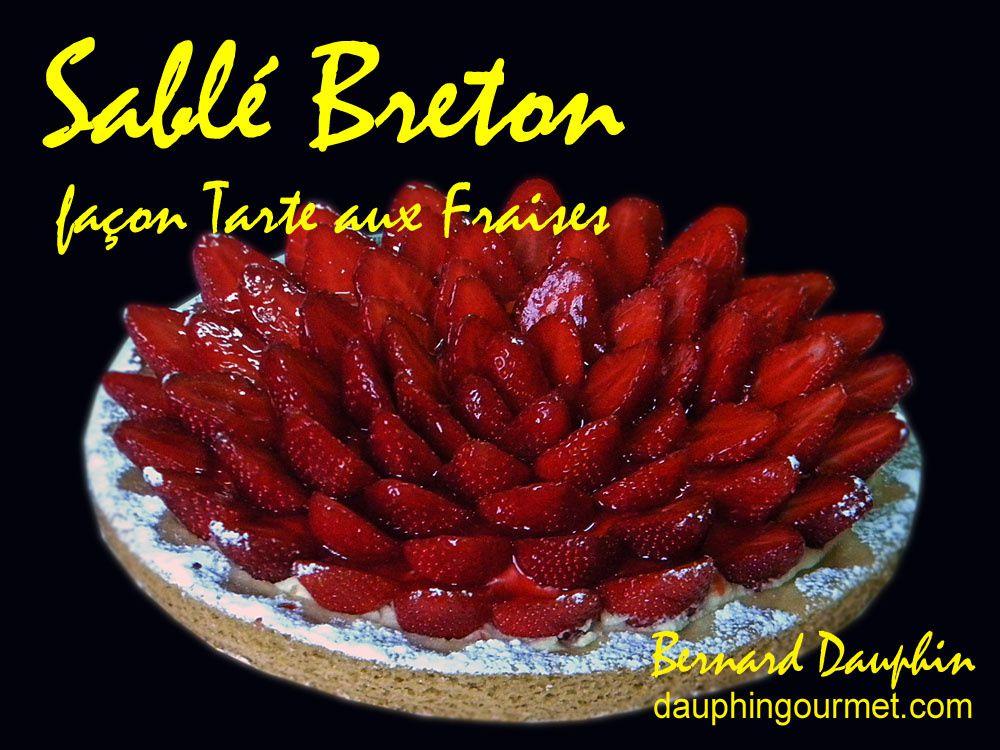 SABLE BRETON FACON TARTE AUX FRAISES