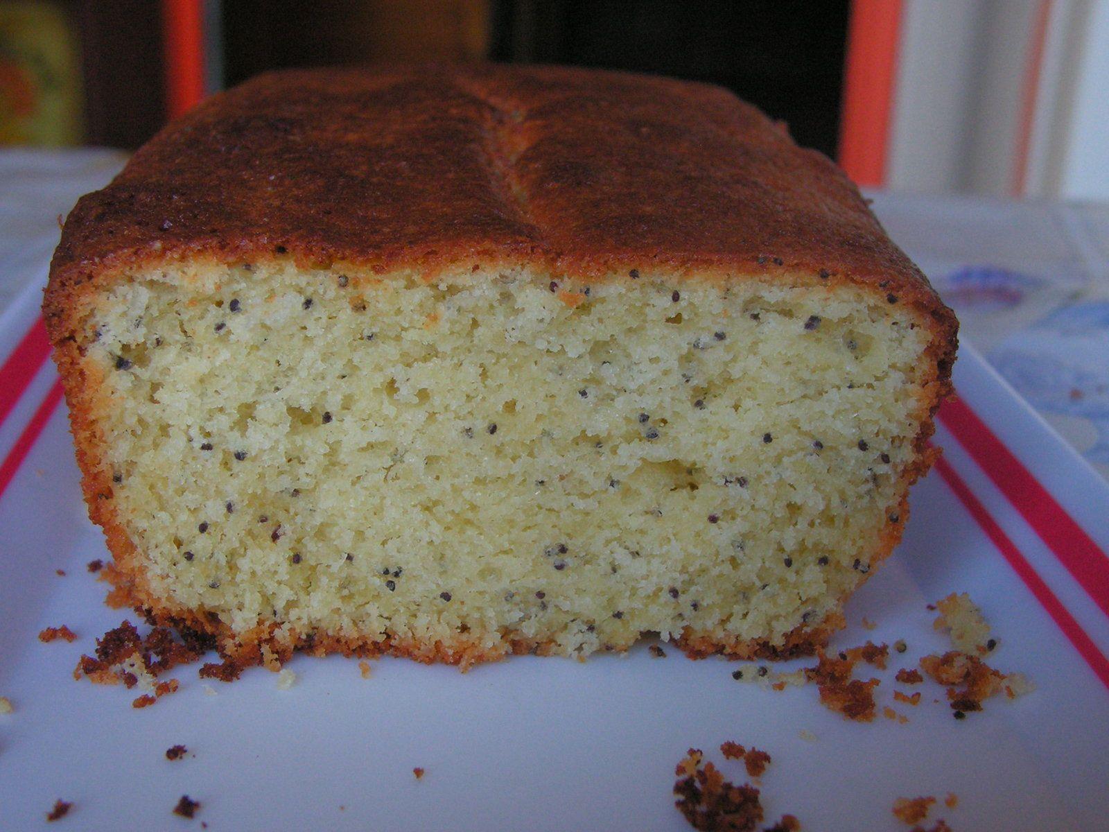 Gâteau au citron et aux graines de pavot