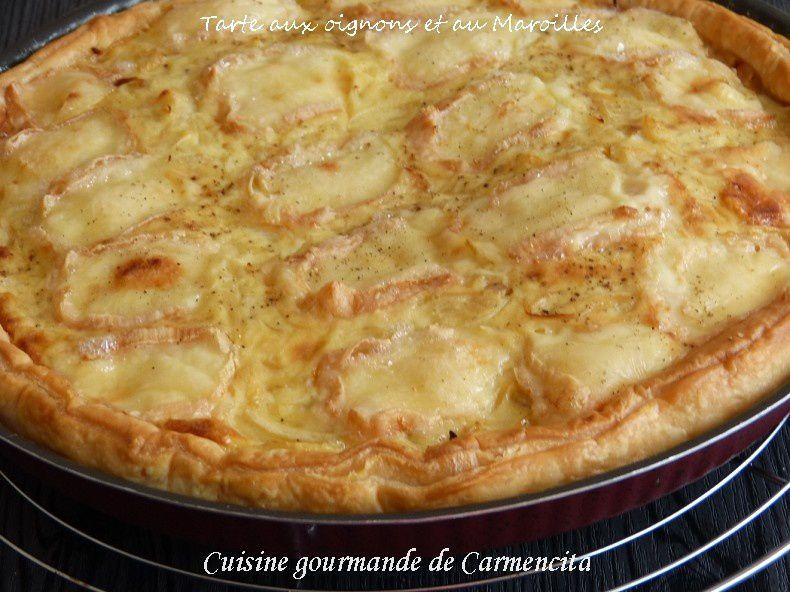 la tarte aux oignons et maroilles de Carmen