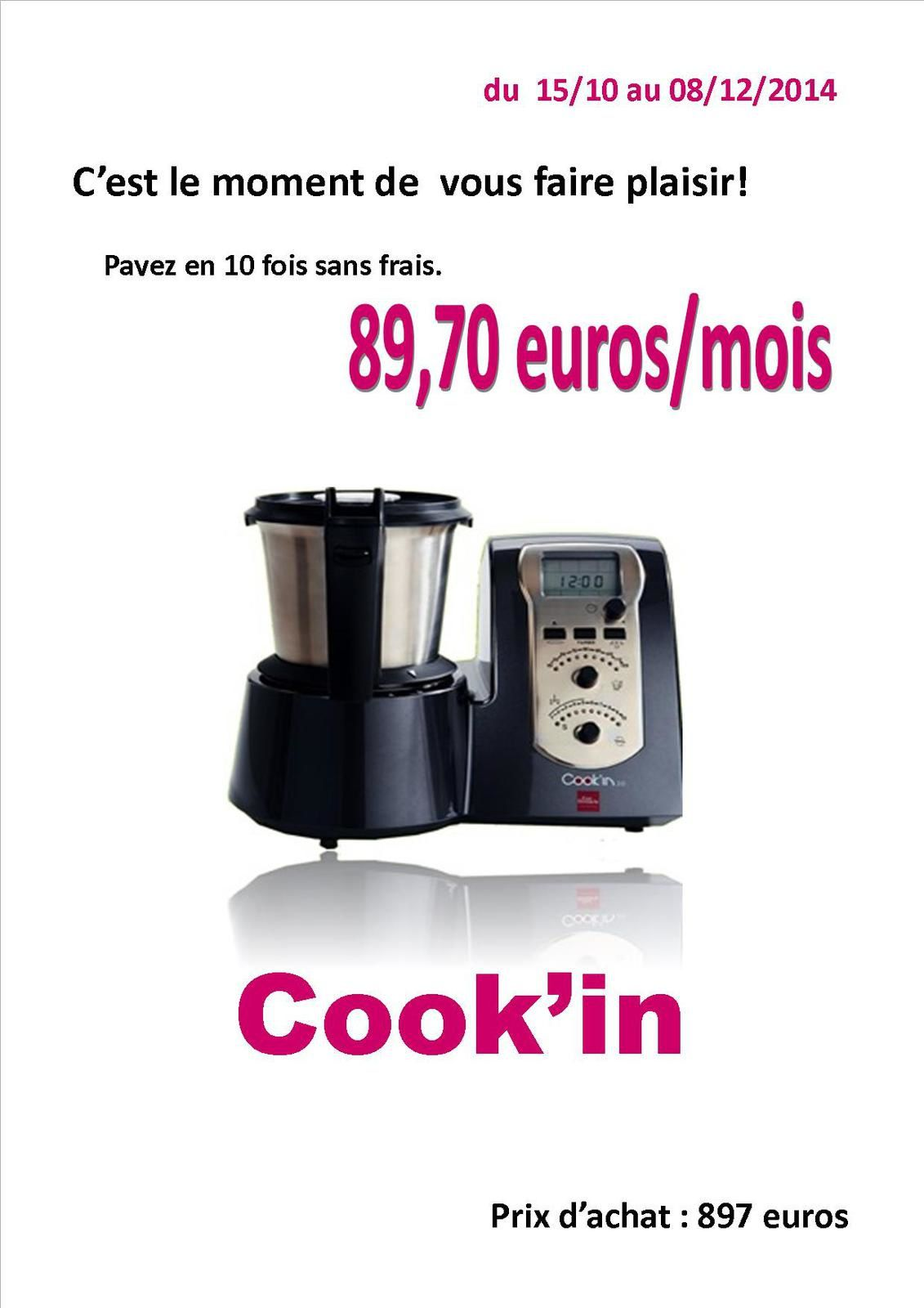 PATES DE COINGS AU COOK'IN