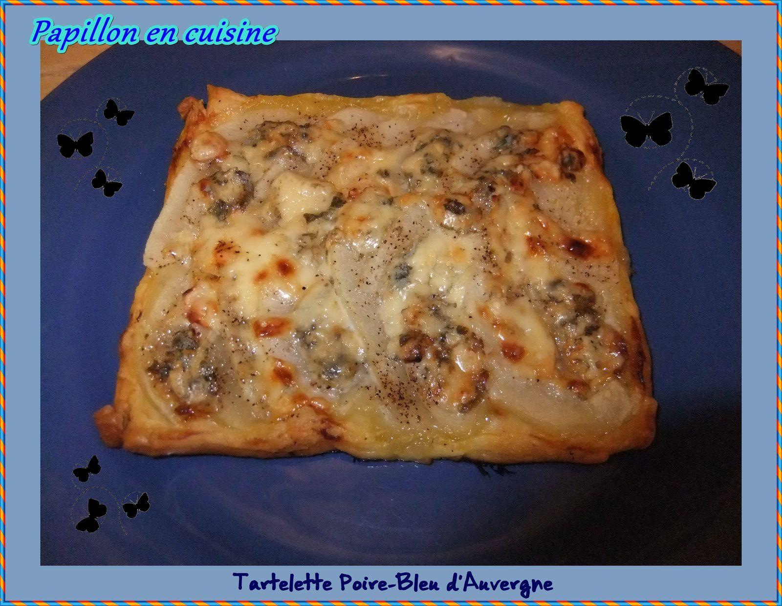 Recette tartelette poire bleu d 39 auvergne papillon en for Petite entree simple