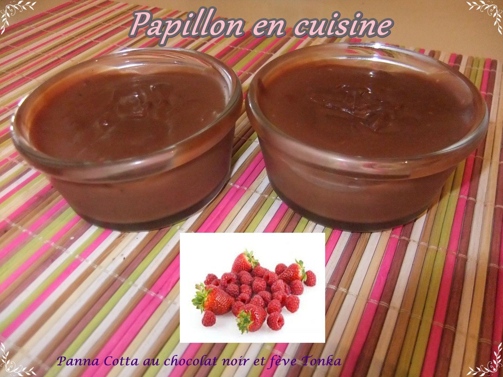 Recette panna cotta au chocolat noir et f ve tonka papillon en cuisine - Panna cotta herve cuisine ...