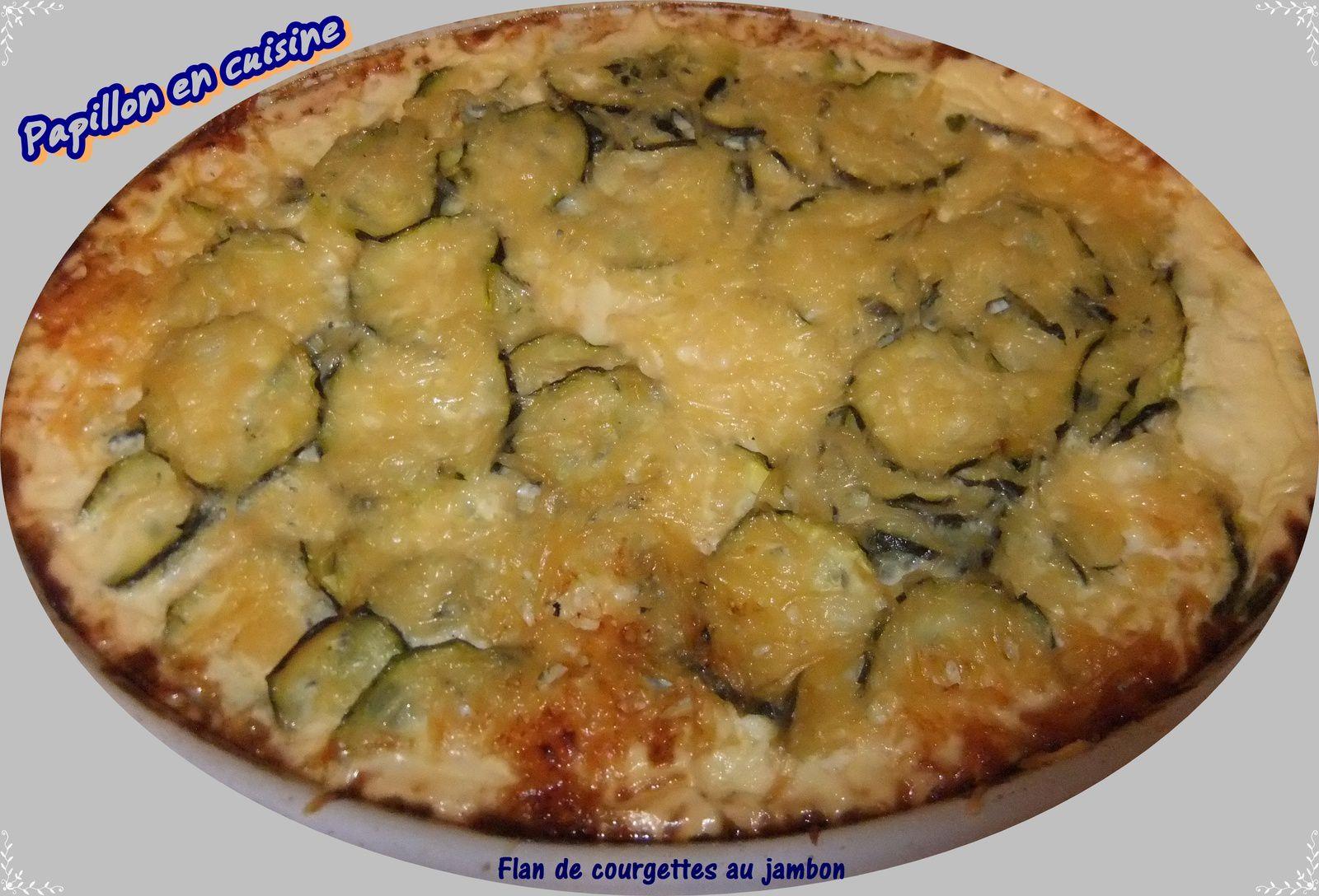 Recette flan de courgettes au jambon papillon en cuisine - Recette flan de courgette thermomix ...