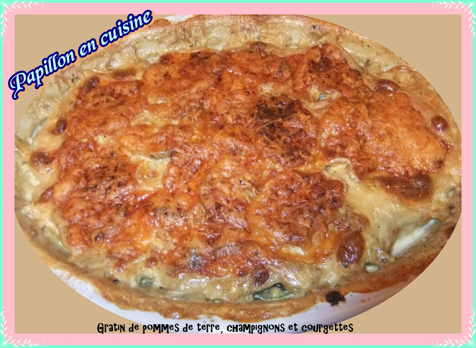 recette gratin de pommes de terre champignons et. Black Bedroom Furniture Sets. Home Design Ideas