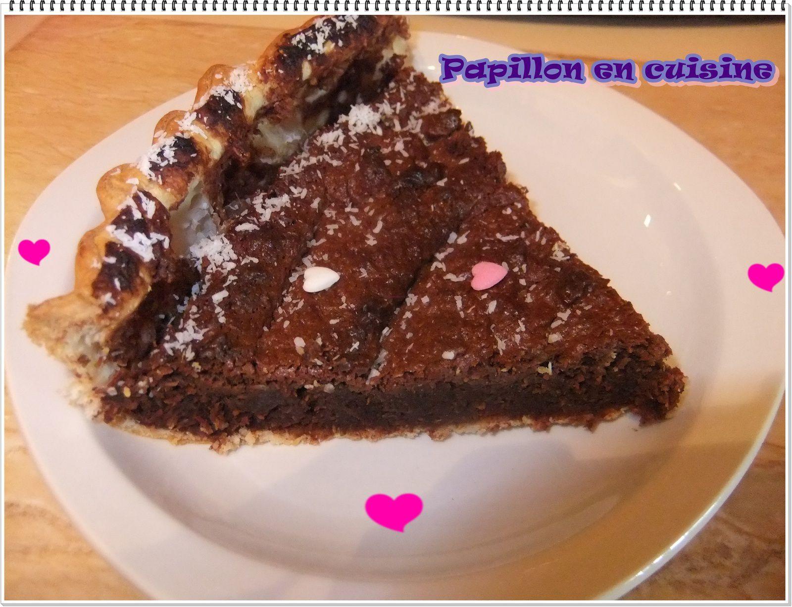 Recette: Tarte au chocolat noir et noix de coco