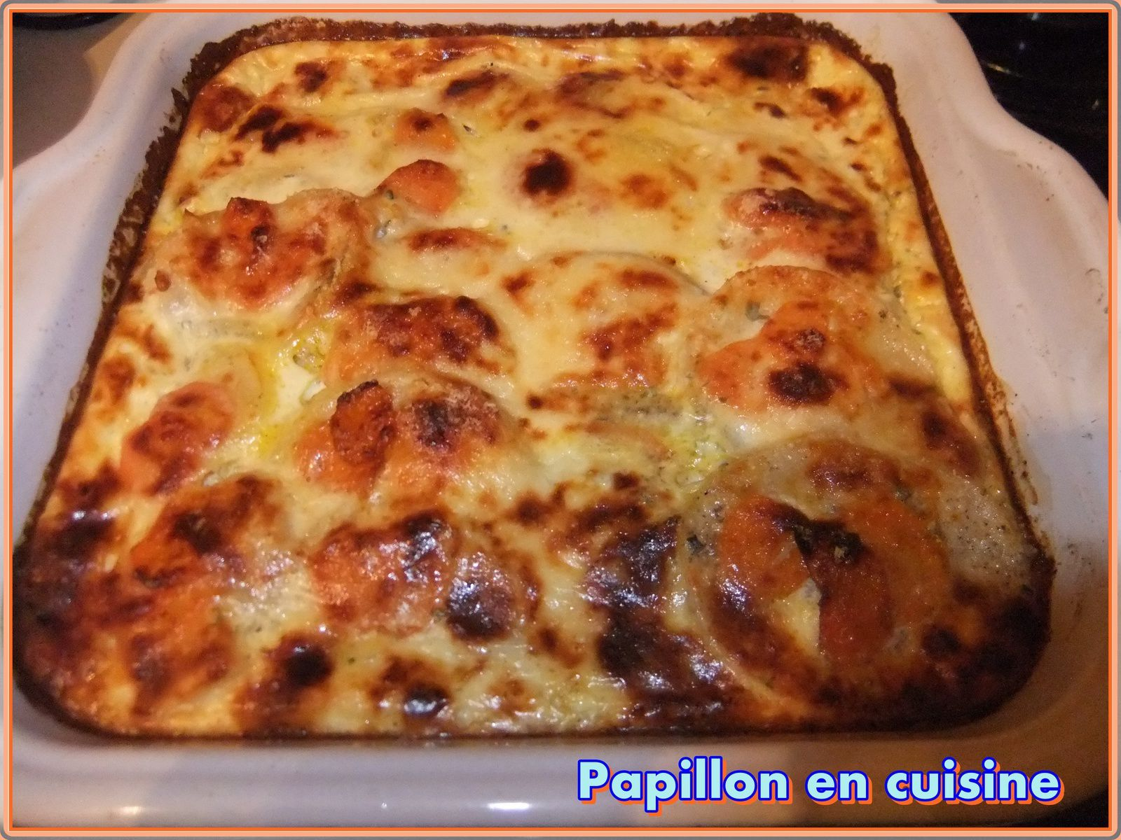 recette gratin de carottes et pommes de terre au boursin. Black Bedroom Furniture Sets. Home Design Ideas