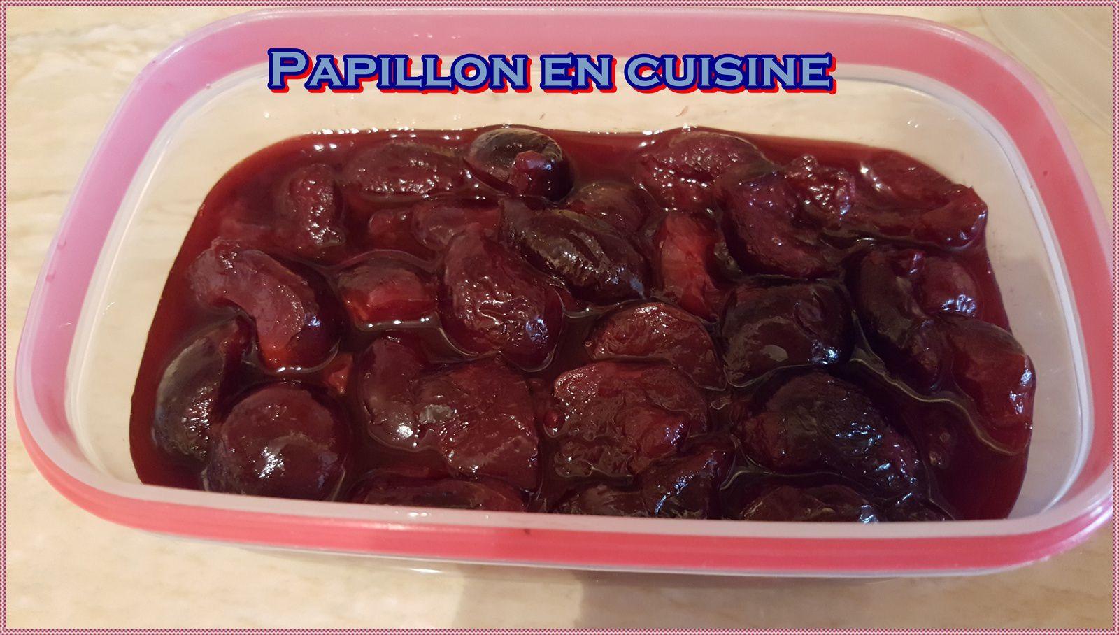 Recette: Compotée de cerises sans sucre ajouté à la fève Tonka