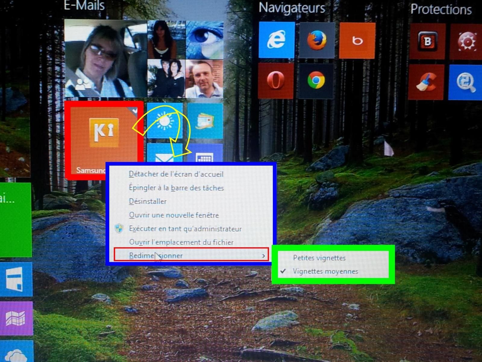 Nouvelles modifications de Windows 8.1 ( Renommer-Redimensionner ) .