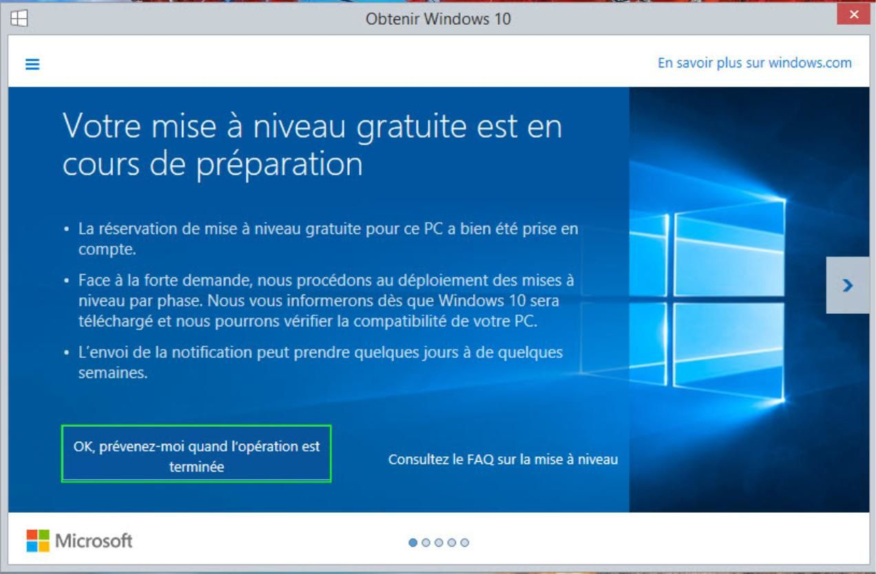 Windows 10 ( installation forcer ).