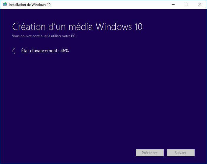 Créer un DVD de récupération sous Windows 10